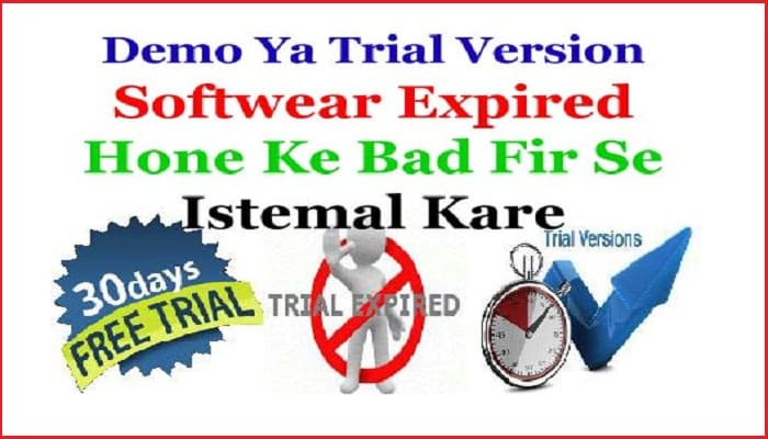 reinstall lifetime free use demo trial version software