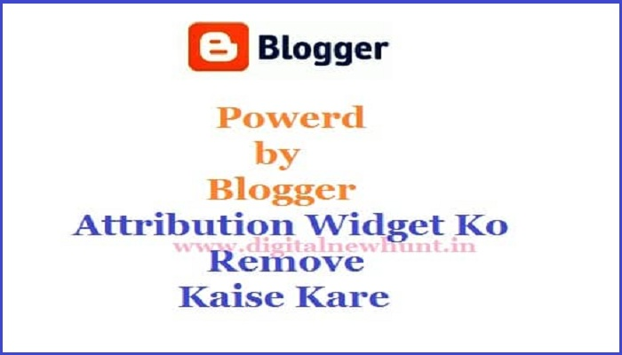 remove power by blogger attribution