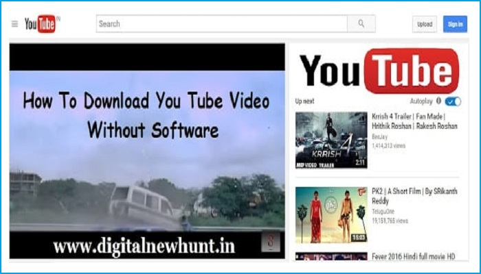 Without Software Youtube Video Download Kaise Karte Hai